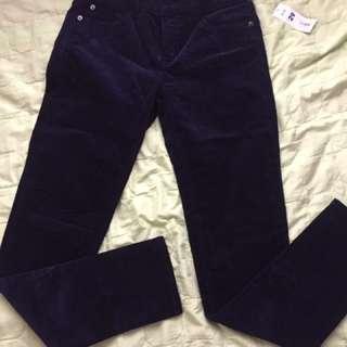 corduroy pants navy blue size 27