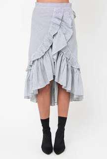 MIDI frill skirt