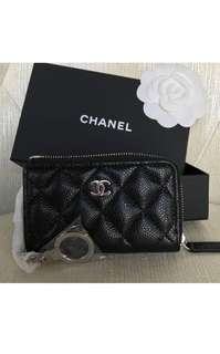 🆕👨👱‍♀️ Authentic CHANEL Caviar SHW Card Holder/Key Pouch, Unisex