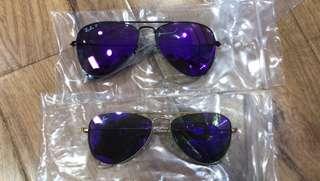 Sunglasses ray ban 50mm kid size aviator flash lenses rb3025 polarized lenses 900hkd