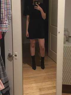 Mini tshirt dress laser cut forever 21