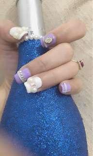 Gel polish with design