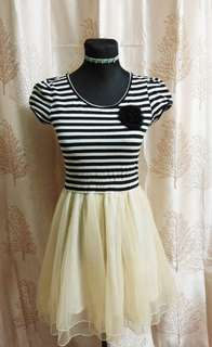 Stripes with tulle skirt
