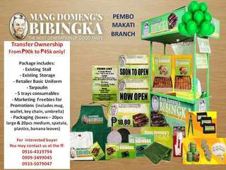Transfer of Franchisee Ownership - Mang Domengs Bibingka