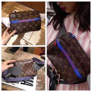 LV 18 new style old flower chest pockets M43828