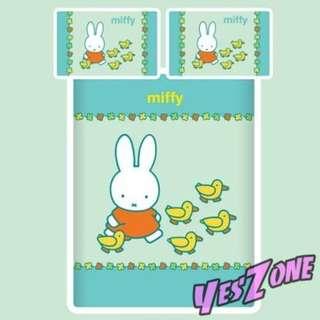 Yes Zone 卡通精品 Miffy 米菲兔 正版 雙人三件套床笠全綿被套四件套床單