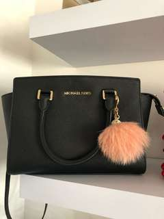 MK Selma Saffiano Leather Medium Satchel