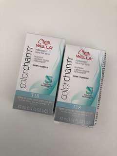 Wella Color Charm - T18 Lightest Ash Toner x2