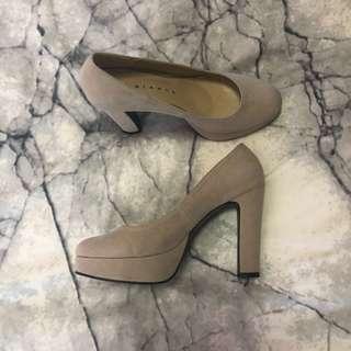 Beige Platform Heels