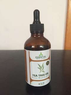 100% organic m, pure, natural Tea tree oil-- for face, hair, nails, acne, cuts, eczema