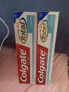 Colgate Total Clean Mint Toothpaste, 1 for $4, 2 for $6, 4 for $10