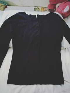 UNBRANDED BLACK LONG SLEEVED CARDIGAN FREE (just pay for shipping)