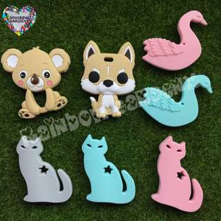 [Clearance Sale] Cat And Swan teether