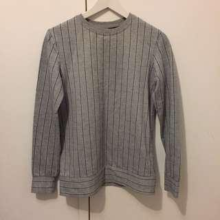 Grey pinstripe sweater