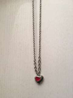 Guess Heart silver necklace