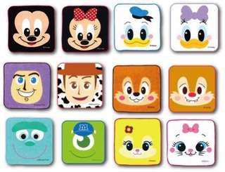 日本迪士尼Disneyland 卡通手巾仔(一套24條)