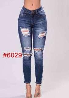 Fashion Plus Size Tattered Skinny Jeans