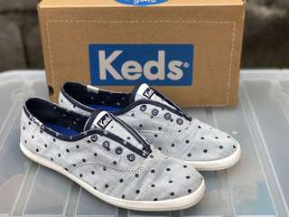 KEDS CHILLAX CHAMB DOT GRAY