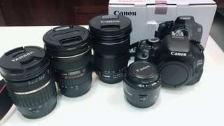 Canon 600D單眼相機組/含標準/中長焦/廣角可單售拆賣