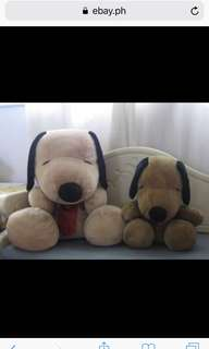 LOT OF 2 MOMMY & BABY DOG STUFFED TOY