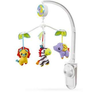 Playgro musical jungle friends crib mobile