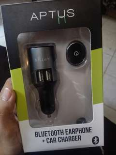 Bluetooth Earbud + Car Charger