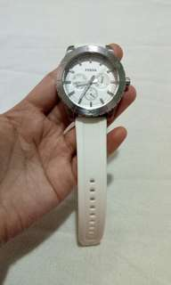 Fossil watch with white strap