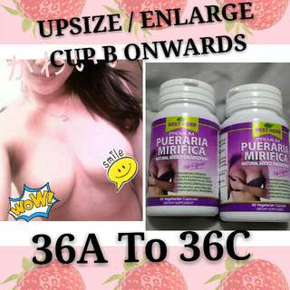 1@$55.90 BUST BREASTS ENLARGEMENT BOOST + UP SIZE 0.5 TO 3 CUP + FIRM BUTT + FOR LADY / WOMAN + TRANSGENDER + 500MG X 60 + UP LIBIDO & ESTROGEN & SLOW DOWN AGING + ENHANCE PUBERTY & MENOPAUSE - SUITABLE FOR HALAL MUSLIM VEGETARIAN - 100% HERBAL