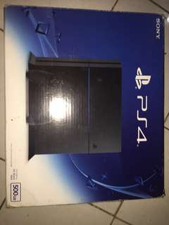 Jet Black PS4 2016 Model (500GB) with 3 free games