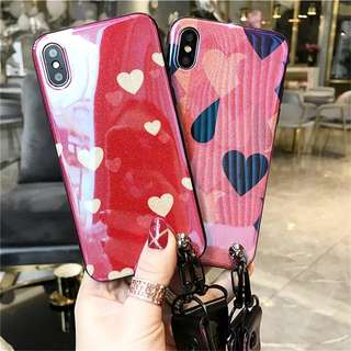 PO Blue-Ray Heart Design iPhone Casing