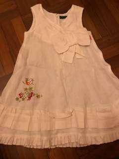 Oilily 100% cotton white dress