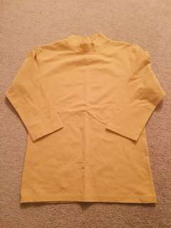 NEW Mustard color mockneck