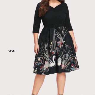 U.s plus size dress ( swan design )