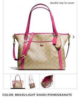 Coach 手袋 bag shocking pink with zip. Young Gucci Kate Spade