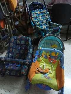 Stroller, rocker & baby car seat 3 in 1 price