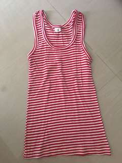 White red sleeveless top
