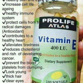 🍀PROLIFE ATLAS VITAMIN E 400 I.U. USP🍀