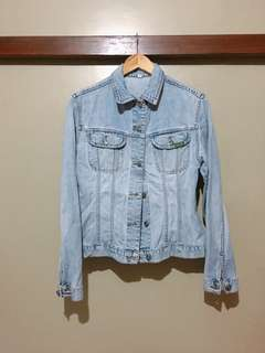 Denim Jacket with Print at the Back