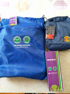 Manchester 斜孭袋,Wimbledon 水罇,輕便摺椅