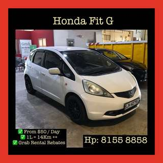 Honda Fit G - Grab Car Rental, Uber welcomed