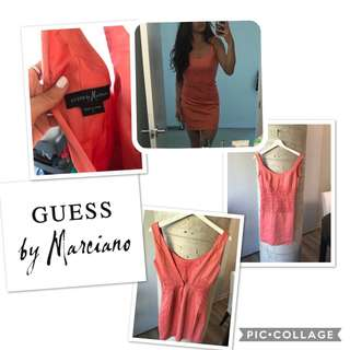 Marciano Peach Lace Dress Size extra small