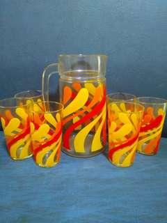 Retro Jug & Glasses