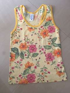 Yellow floral racerback top