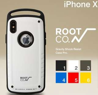 Root co. iPhone X Gravity Pro 抗衝擊軍規保護殼