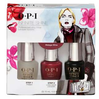 OPI Nail Polish Infinite Shine - Trio Pack Malaga Wine
