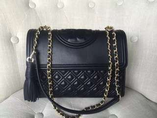 TORY BURCH FLEMING MICRO CONVERTIBLE BLACK AUTHENTIC