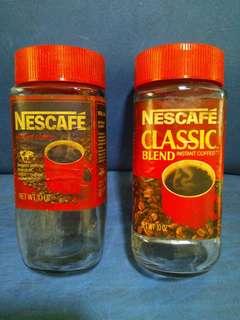 Old NESCAFE Glass Bottles