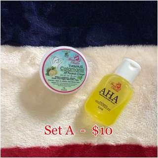 AHA Serum + Cream