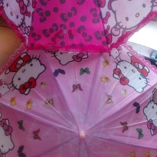 TAKE ALL 2 HELLO KITTY kids UMBRELLA