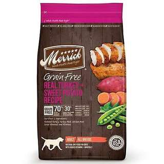Merrick Grain Free Turkey & Sweet Potato Dog Food 25lb $150 / $290 for 2